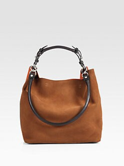 Marni - Bicolor Suede Shoulder Bag