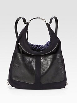 Marni - Mixed-Media Convertible Backpack