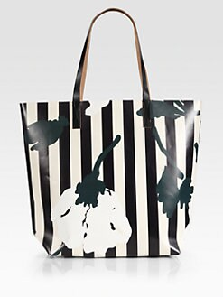 Marni - Floral Printed Textured Shopping Bag