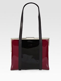 Marni - Bicolor Patent Leather Small Satchel