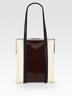 Marni - Bicolor Patent Leather Large Satchel