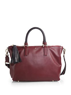 Anya Hindmarch - Mixed-Media Small Tassel Tote