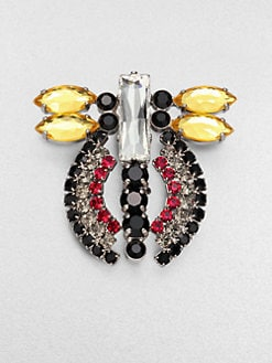 Marni - Faceted Abstract Insect Brooch
