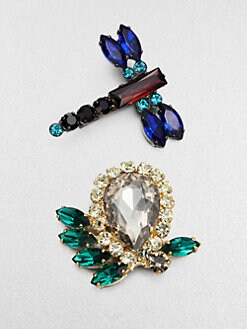 Marni - Faceted Dragonfly Brooch Set