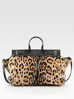 Jerome Dreyfuss - Carlos Medium Leather & Leopard-Printed Pony Hair Satchel