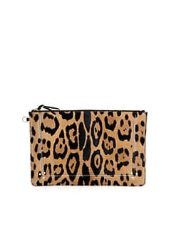 Jerome Dreyfuss - Popoche Large Leopard-Print Pony Hair Clutch