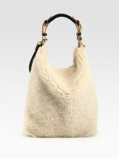 Marni - Shearling Shoulder Bag