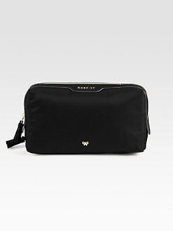 Anya Hindmarch - Patent Leather Accented Nylon Cosmetic Bag