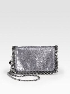 Stella McCartney - Falabella Metallic Crossbody Chain Clutch