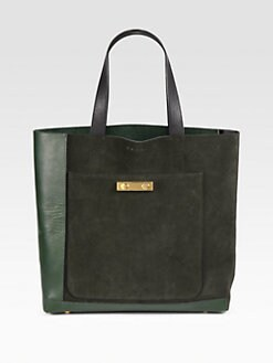 Marni - Suede & Leather Bicolor Tote Bag