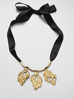 Marni - Three Leaves Necklace