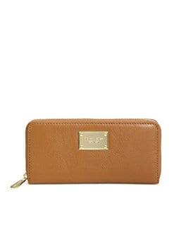 MICHAEL MICHAEL KORS - Leather Zip Around Wallet