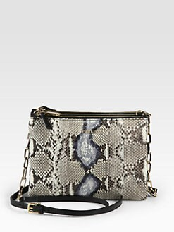 Furla Exclusively for Saks Fifth Avenue - Python & Leather Three Compartment Shoulder Bag