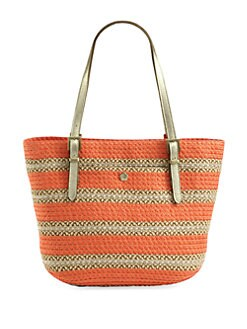 Eric Javits - Squishee Jav Woven Stripe Tote