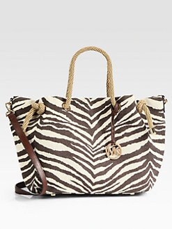 MICHAEL MICHAEL KORS - Marina Tiger-Striped Canvas Tote