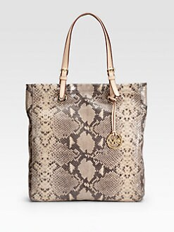 MICHAEL MICHAEL KORS - Jet Set Python-Print Tote