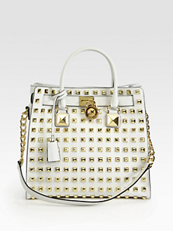 MICHAEL MICHAEL KORS - Hamilton Studded Large North South Tote
