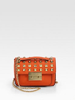 MICHAEL MICHAEL KORS - Sloan Stud Small Shoulder Flap Bag