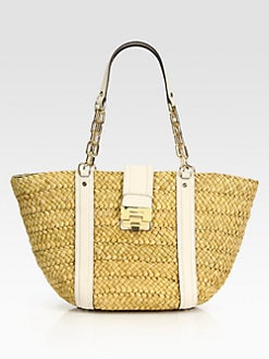 MICHAEL MICHAEL KORS - Woven Straw Large East West Tote