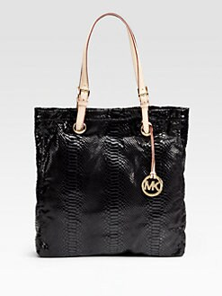 MICHAEL MICHAEL KORS - Python-Embossed Leather Tote