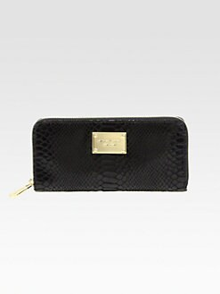 MICHAEL MICHAEL KORS - Snake Embossed Leather Zip-Around Wallet