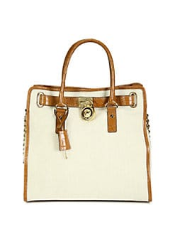 MICHAEL MICHAEL KORS - Hamilton Canvas North South Tote
