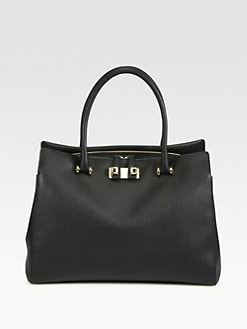 Furla Exclusively for Saks Fifth Avenue - Mediterranea Saffiano Shopper/Black