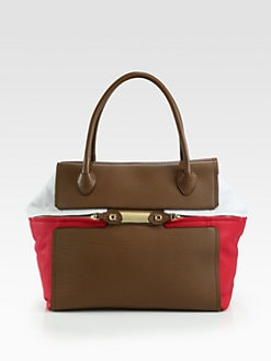 Furla Exclusively for Saks Fifth Avenue - Teorema Colorblock Tote/Taupe