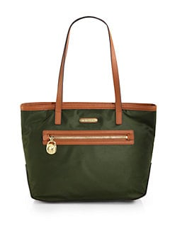 MICHAEL MICHAEL KORS - Leather-Trimmed Nylon Tote