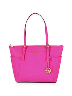 MICHAEL MICHAEL KORS - East/West Top Zip Saffiano Leather Tote Bag