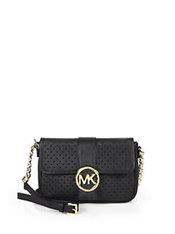 MICHAEL MICHAEL KORS - Small Perforated Messenger Bag