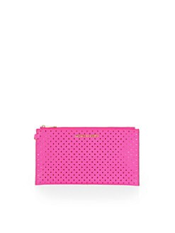 MICHAEL MICHAEL KORS - Perforated Large Clutch