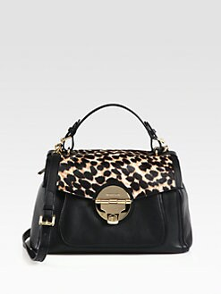 MICHAEL MICHAEL KORS - Large Calf Hair & Leather Satchel