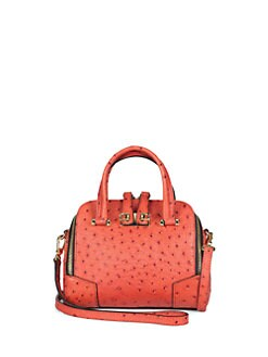Furla Exclusively for Saks Fifth Avenue - Ostrich-Embossed Mediterranean Dome Handbag