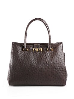 Furla Exclusively for Saks Fifth Avenue - Ostrich-Embossed Leather Tote