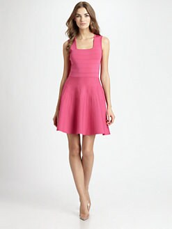 Pink Tartan - Square-Neck Anica Dress