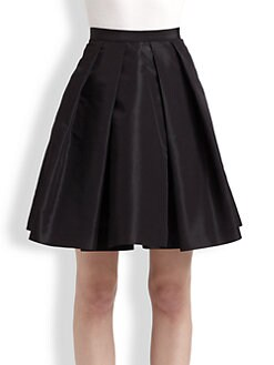 Pink Tartan - Satin Tabitha Pleated Skirt