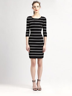 Pink Tartan - Striped Power Stretch Dress