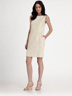 Pink Tartan - Brocade Shift Dress