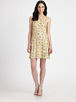 Pink Tartan - Palm Beach Sequined Dress