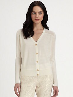 Pink Tartan - Wool & Silk Cardigan