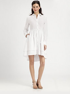 Pink Tartan - Cotton Seersucker Shirtdress