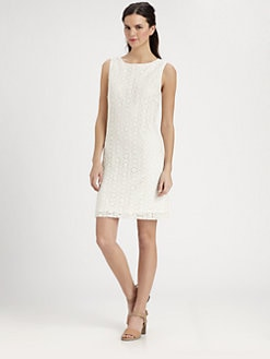 Pink Tartan - Cotton Lace Shift Dress