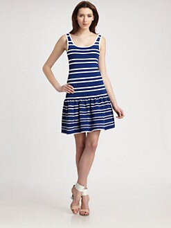 Pink Tartan - Power Stretch Striped Dress