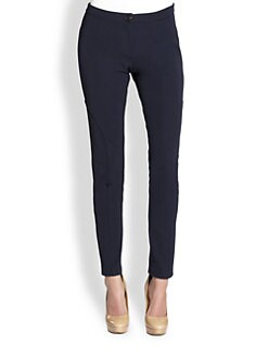 Pink Tartan - Seamed Ankle-Zipper Leggings