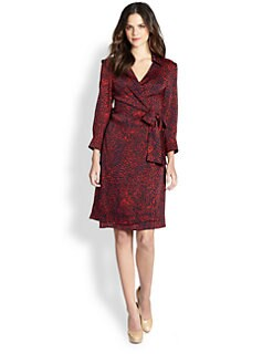 Pink Tartan - Painterly-Print Silk Jersey Dress