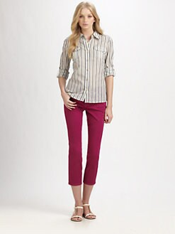 Tory Burch - Striped Brigitte Blouse