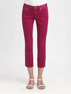 Tory Burch - Cropped Skinny Jeans