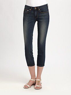 Tory Burch - Alexa Cropped Skinny Jeans