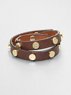 Tory Burch - Double Wrap Leather Bracelet